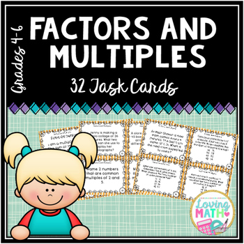 Factors and Multiples Task Cards