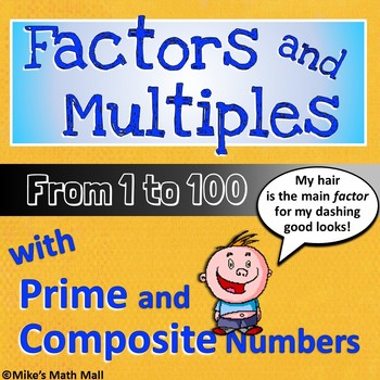 Factors and Multiples from 1 to 100 - Complete 4th Grade C