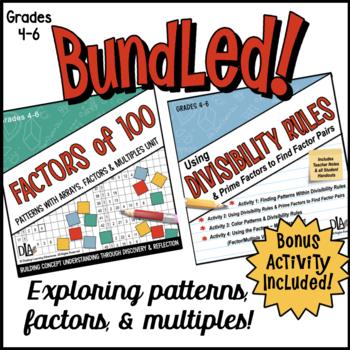 Factors of 100 Unit & Using Divisibility Rules Bundle