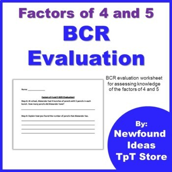 Factors of 4 and 5 BCR Evaluation