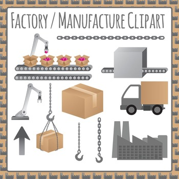 Factory / Manufacturing Commercial Use Clipart - Making, P