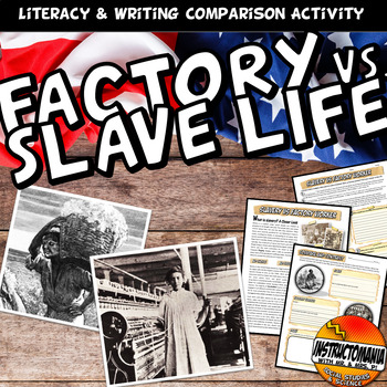 Factory Worker Vs Slave Common Core Writing, Literacy & Co