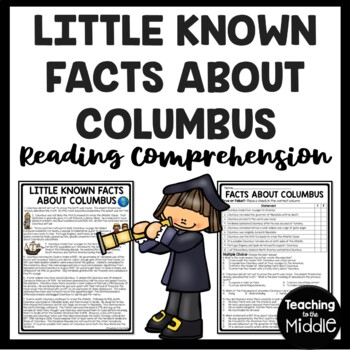 Facts About Columbus- Reading Comprehension Worksheet- Col