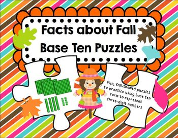 """""""Facts about Fall"""" Base Ten Puzzles"""