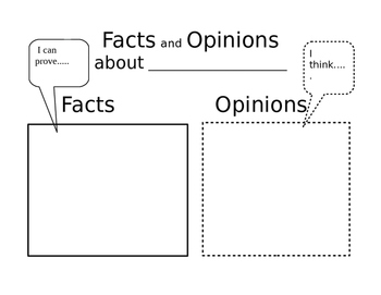 Facts and Opinions Freebie!