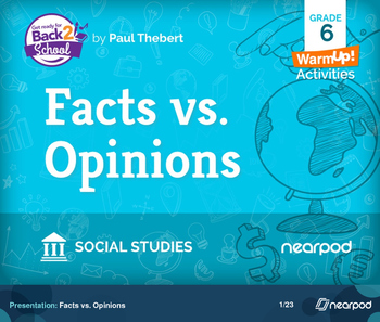 Facts vs. Opinions