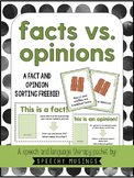Facts vs. Opinions Sort FREEBIE