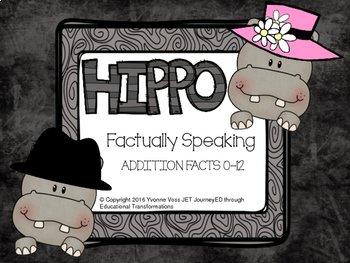 Factually Speaking Hippo Addition Facts 0-12