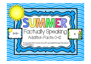 Factually Speaking Summer Addition Facts 0-12