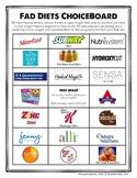 Fad Diets ChoiceBoard (+ Rubric)