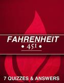 Fahrenheit 451 Bundle of 7 Quizzes & Answers
