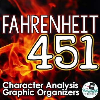 Fahrenheit 451 Character Analysis Graphic Organizers