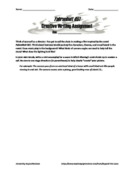 Fahrenheit 451 Creative Writing Assignment: Screenplay