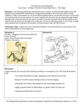 Fahrenheit 451 DBQ Essay