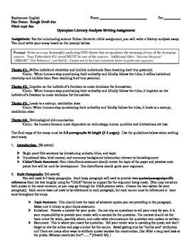 Fahrenheit 451 Literary Analysis Essay Assignment