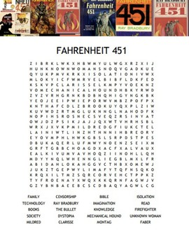Fahrenheit 451 Word Search