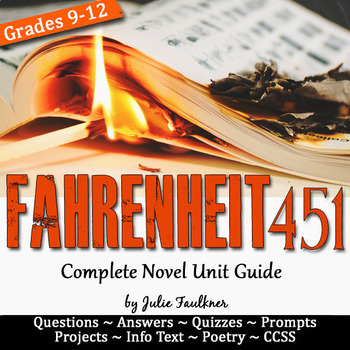 Fahrenheit 451 Literature Guide, Unit Plan, Ray Bradbury