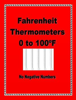 Fahrenheit Thermometers 0 to 100 degrees - 2 pages - FREEBIE