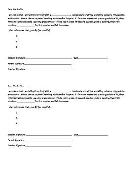 Failing Grade Contract