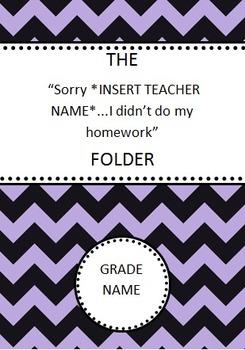 Failure to Complete Homework Log
