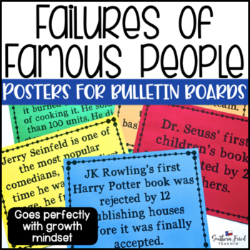 Failures of Famous People Bulletin Board