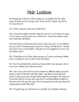 Fair Lesson