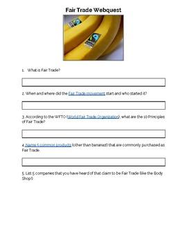 Fair Trade Webquest