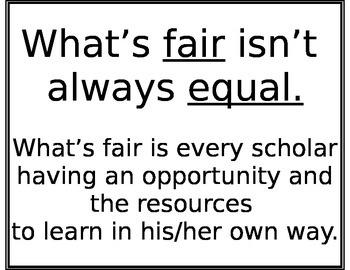 Fair isn't Equal Poster