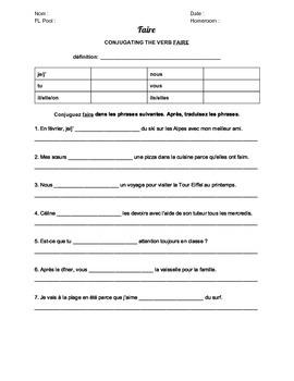 Faire Worksheet