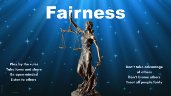 Fairness Character Ed Lesson w 3 video links & scenarios a
