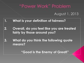 Fairness PowerPoint Slide