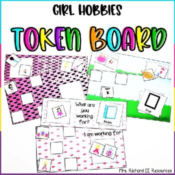 Girl Hobbies Token Board
