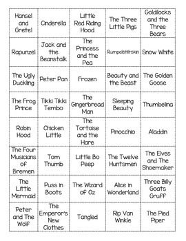 Fairy Tale Bingo