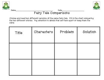Fairy Tale Comparisons