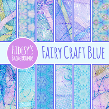 Fairy Tale Digital Papers Blue - Ephemeral Stitched Craft