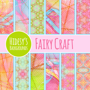 Fairy Tale Digital Papers - Ephemeral Stitched Craft Backg