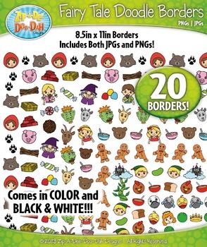Fairy Tale Doodle Frame Borders Mega Bundle Pack — Include