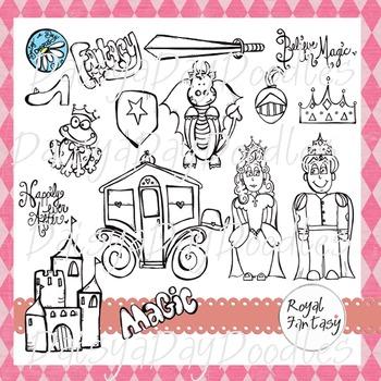 Fairy Tale Fantasy - Line Art
