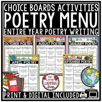 Poetry Activities 2nd Grade, 3rd Grade, 4th Grade