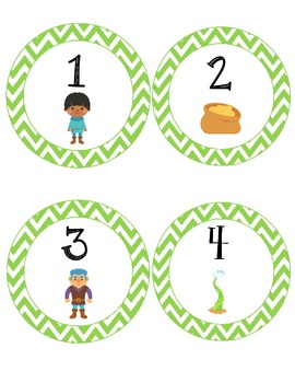 Fairy Tale Number Labels