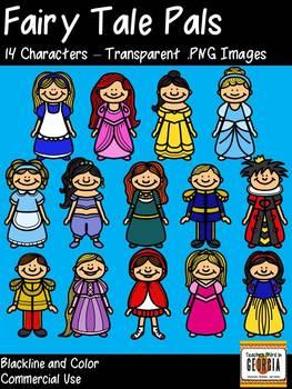 Fairy Tale Pals Clip Art Collection/Clipart - Princesses,