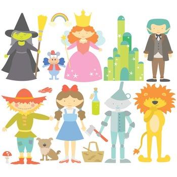 Fairy Tale The Wonderful Wizard Of Oz Digital Clipart & Ve