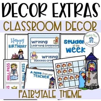 Fairy Tale Theme Class Decor - Extras