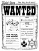 Fairy Tale Wanted Poster & Big Bad Wolf Compare / Contrast