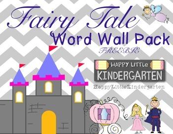 Fairy Tale Word Wall FREEBIE