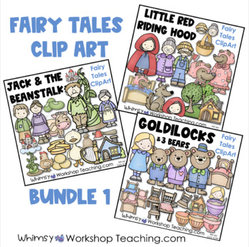 Fairy Tales Clip Art Bundle 1 - Whimsy Workshop Teaching