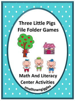 The Three Little Pigs Fairy Tales Unit Math & Literacy Fil
