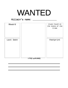 "Fairy Tales ""Wanted"" Poster"