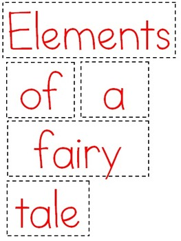 Fairy Tales- organizer and poster set