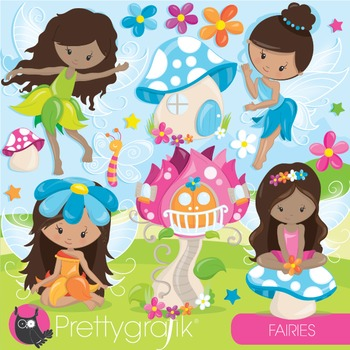 Fairy clipart commercial use, vector graphics, digital, fa